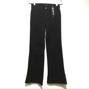 NWOT Express Black Wide Leg Flare High Rise Jeans